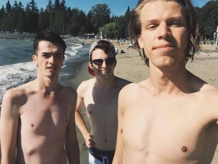 Beach day with Graeme