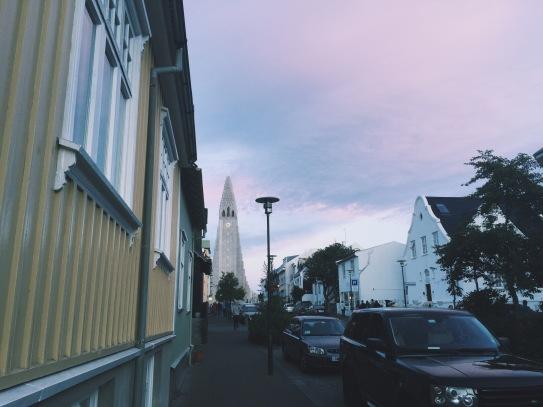 Hallgrimskirkja Church from a distance