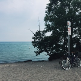 One of the many beaches on Toronto Island