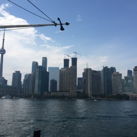 View of Toronto from the ferry
