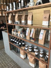 Etno's coffee beans and homemade syrups ready to buy