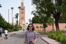 Filip with koutoubia Mosque in the background